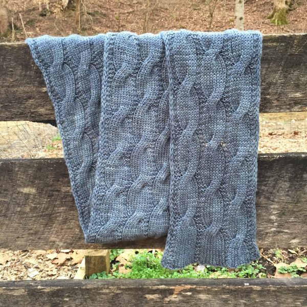 Goat Whisperer's Reversible Cabled Scarf
