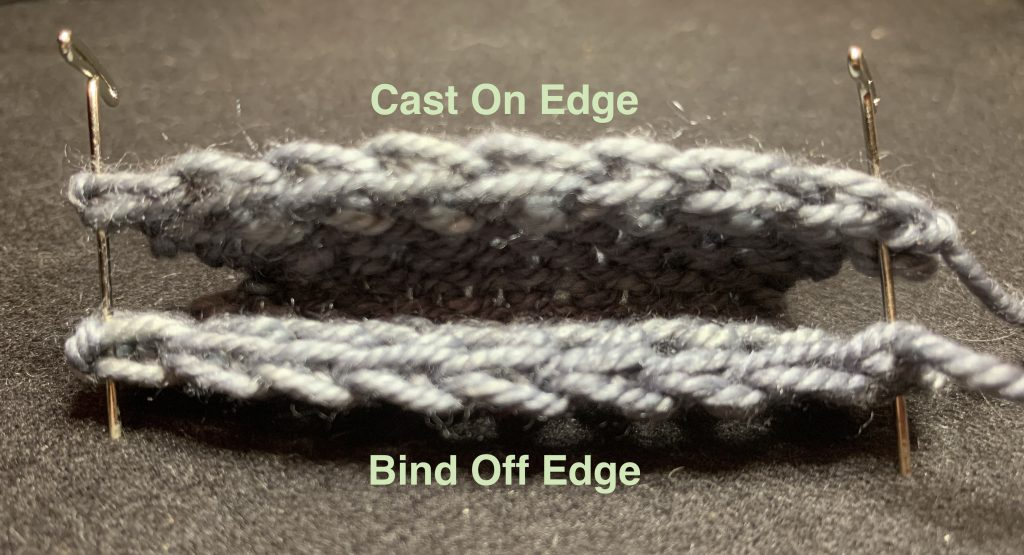 Crochet cast on compared to the standard bind off