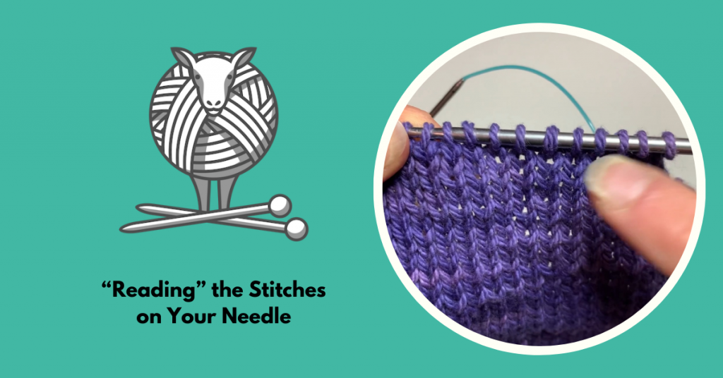 How to read the stitches on your knitting needle