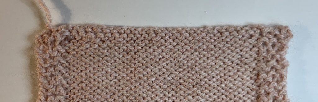 Bind off purlwise - purl side