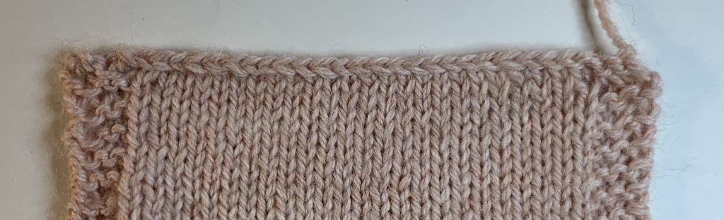 Bind off purlwise - knit side