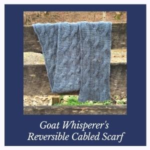 Goat Whisperer's Reversible Cabled Scarf KAL